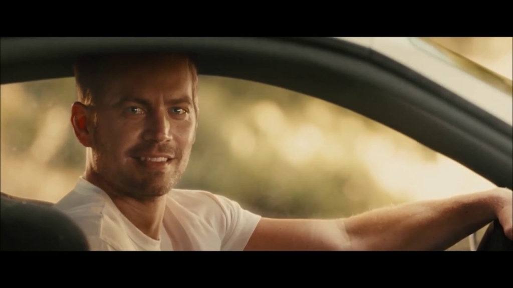 Paul Walker in car for Fast and the Furious