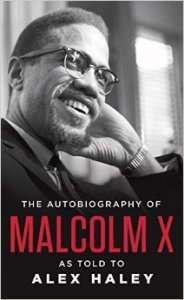 Book cover of the autobiography of Malcolm X.
